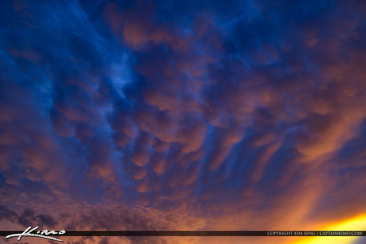 Dynamic Clouds Over Indian Creek Park Jupiter Florida