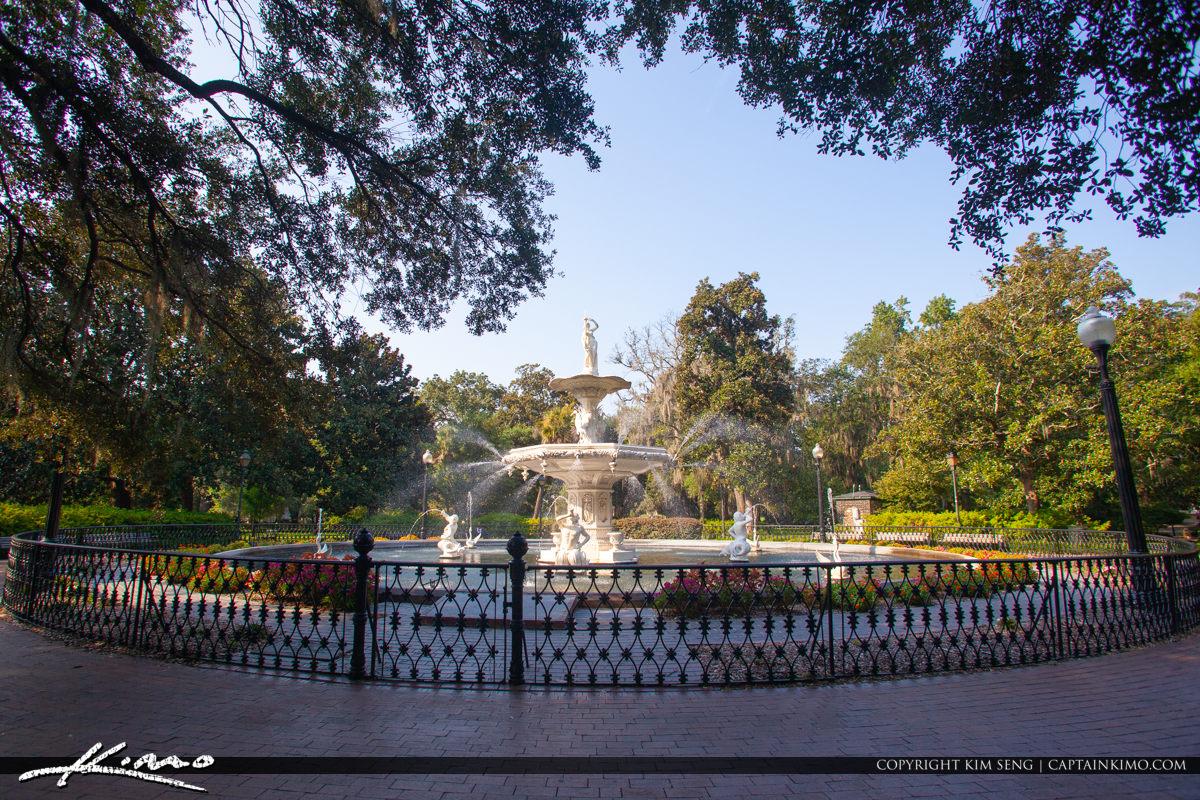 Fountain at Forsyth Park Savannah Georgia