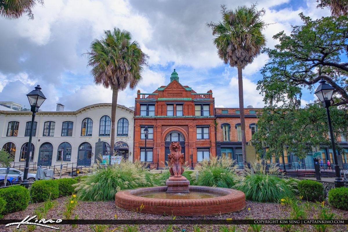 Fountain Rousakis Riverfront Plaza Savannah Georgia