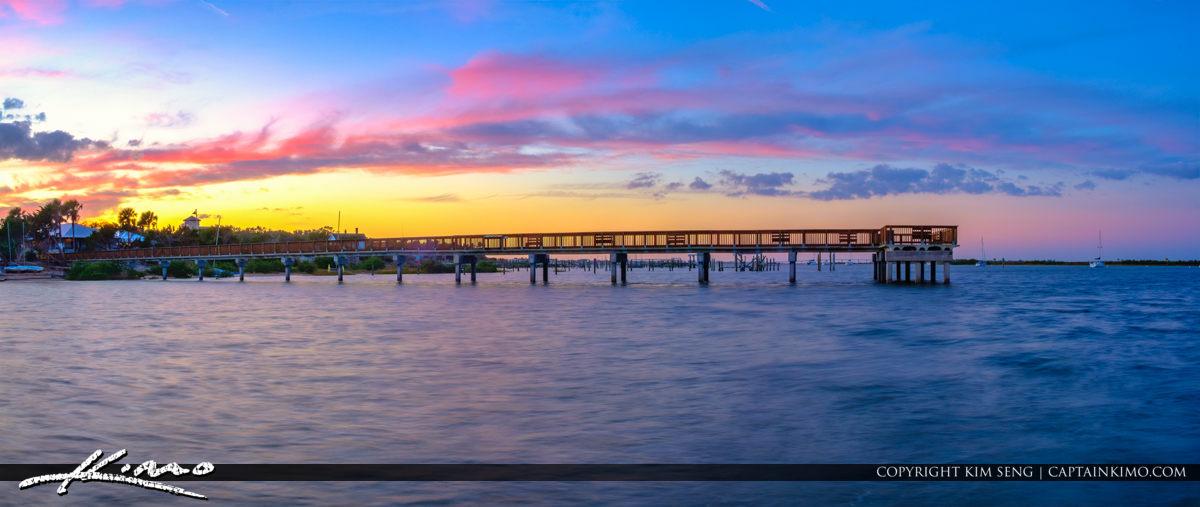 Pier Panorama Lighthouse Park St Augustine Florida