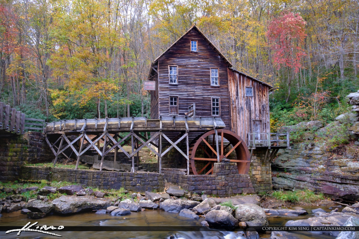 Glade Creek Grist Mill Babcock State Park West Virginia