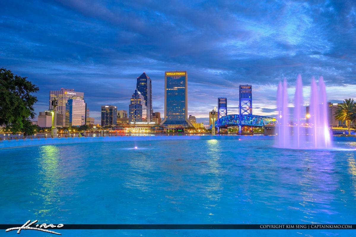Friendship Park Fountain Downtown Jacksonville