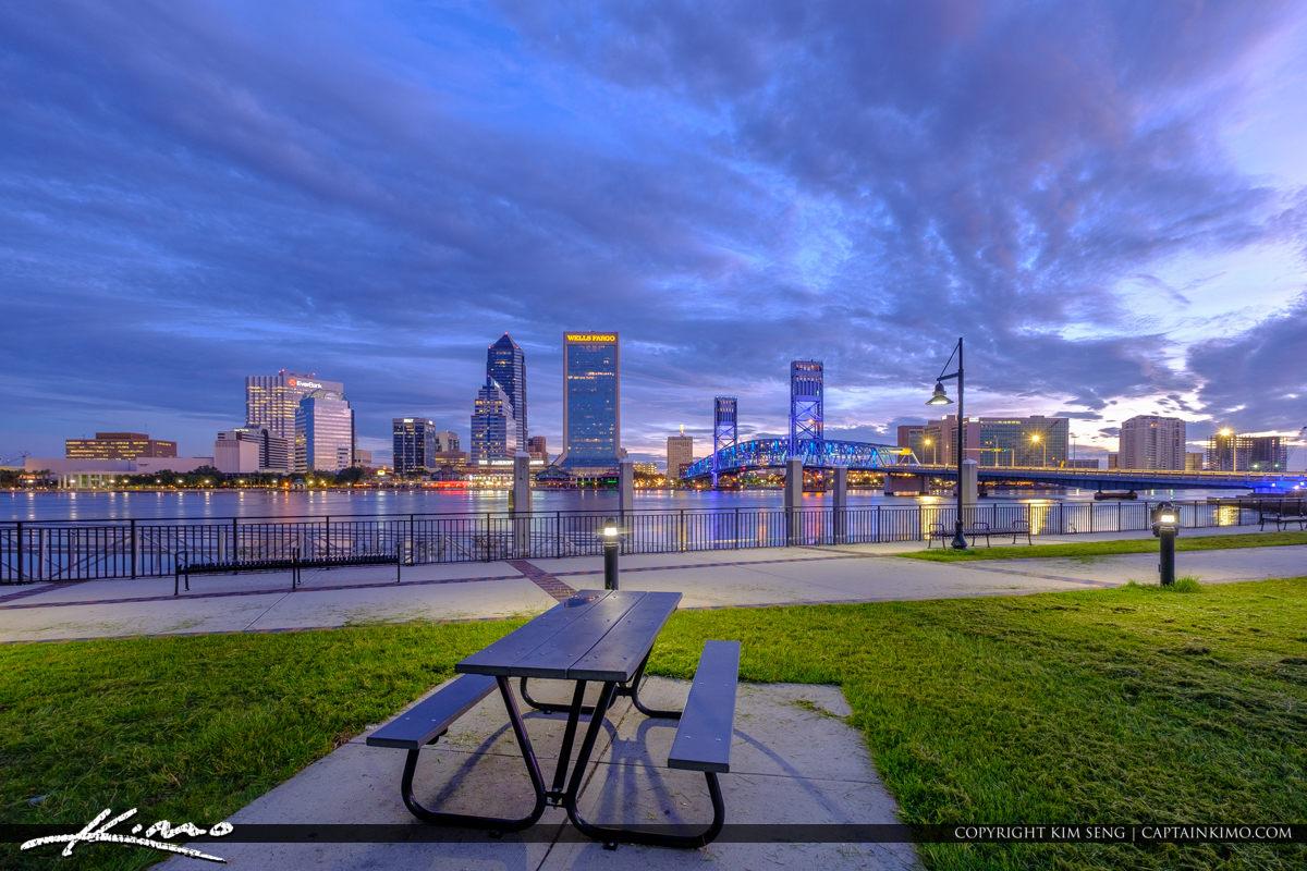 Friendship Park Downtown St Johns River Jacksonville Florida