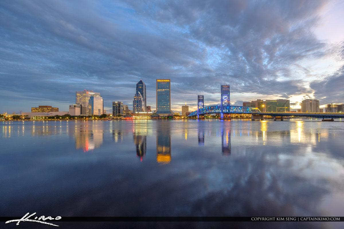 Jacksonville Skyline Florida St Johns River