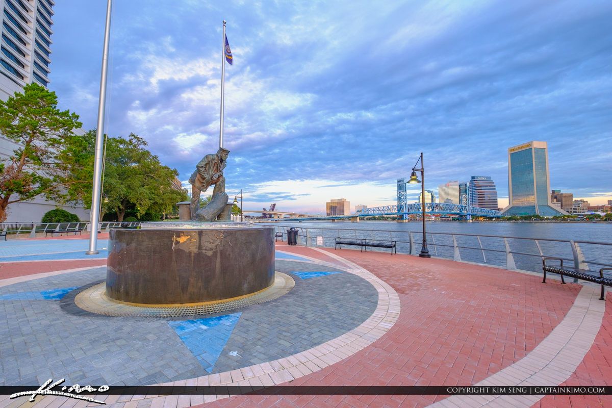 The Lone Sailor Statue Memorial Jacksonville Florida