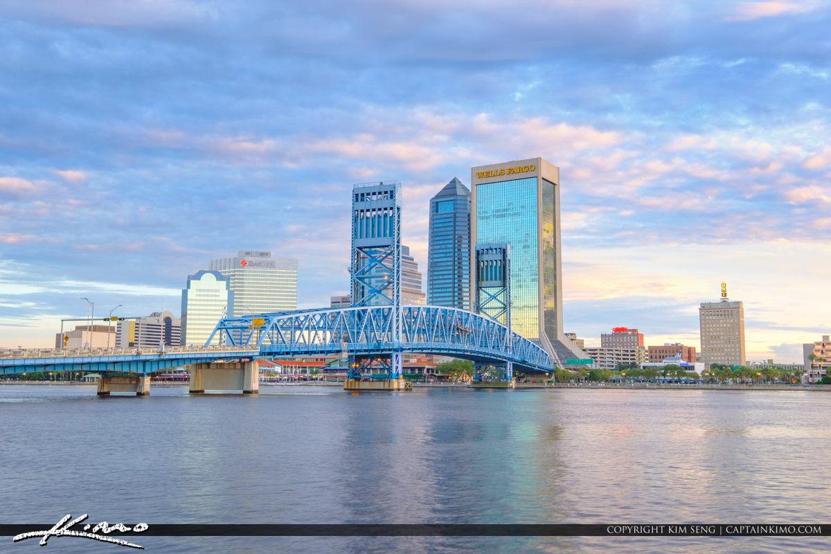 Main Street Bridge Riverwalk St Johns River Jacksonville Florida