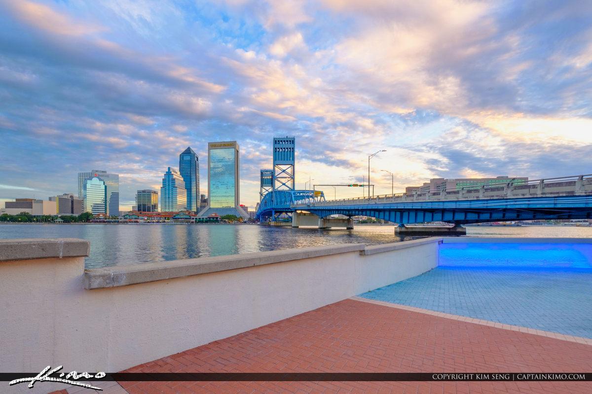 Path Under the Main Street Bridge Riverwalk St Johns River Jacksonville Florida