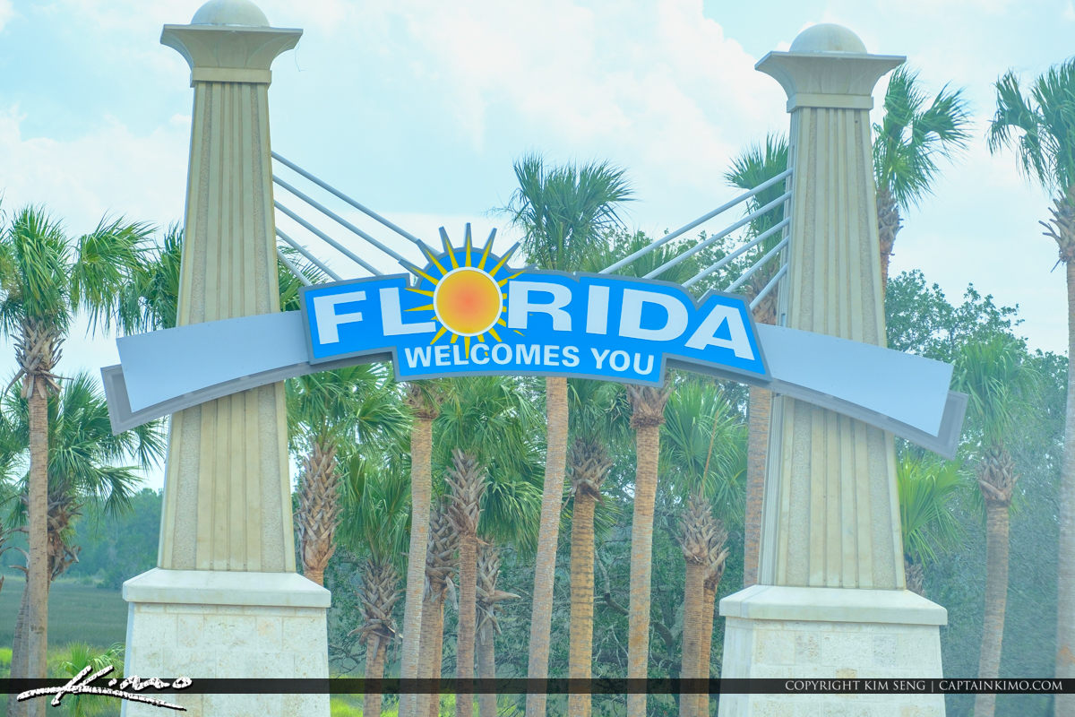 Welcome to Florida I95 Sign