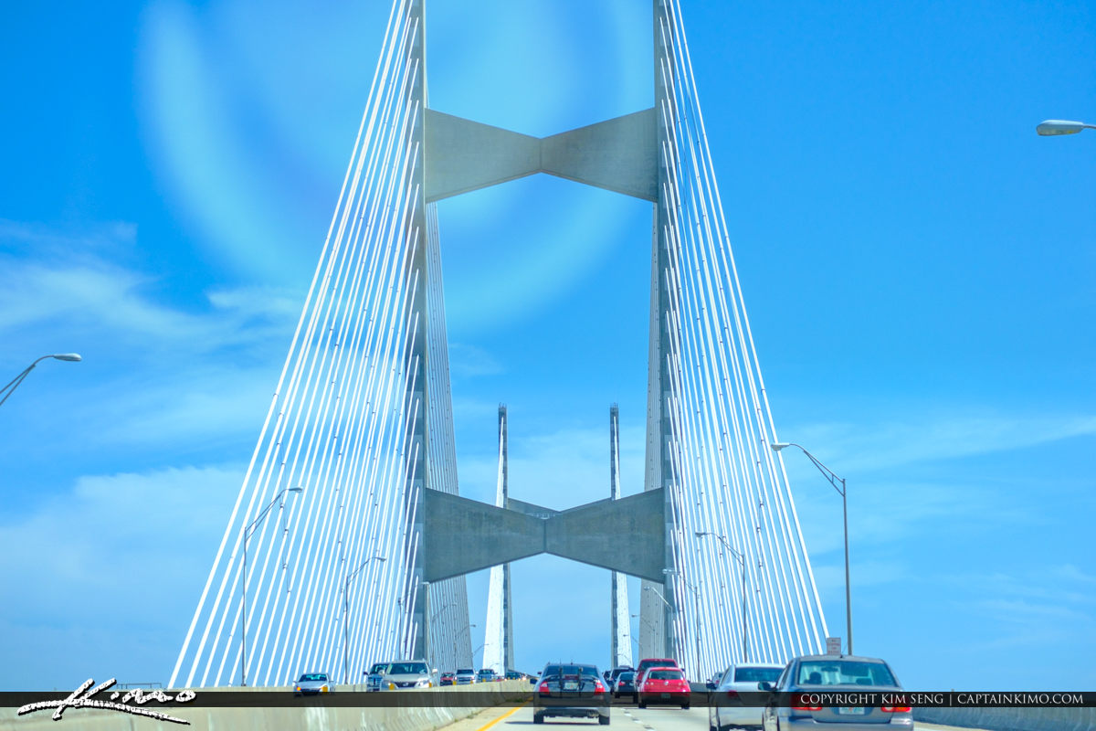 Top of the Dames Point 295 Beltway Bridge Jacksonville Florida