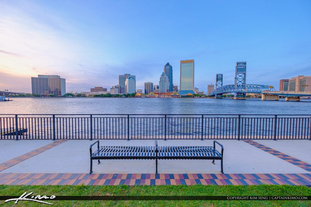 Jacksonville Skyline View from Friendship Park