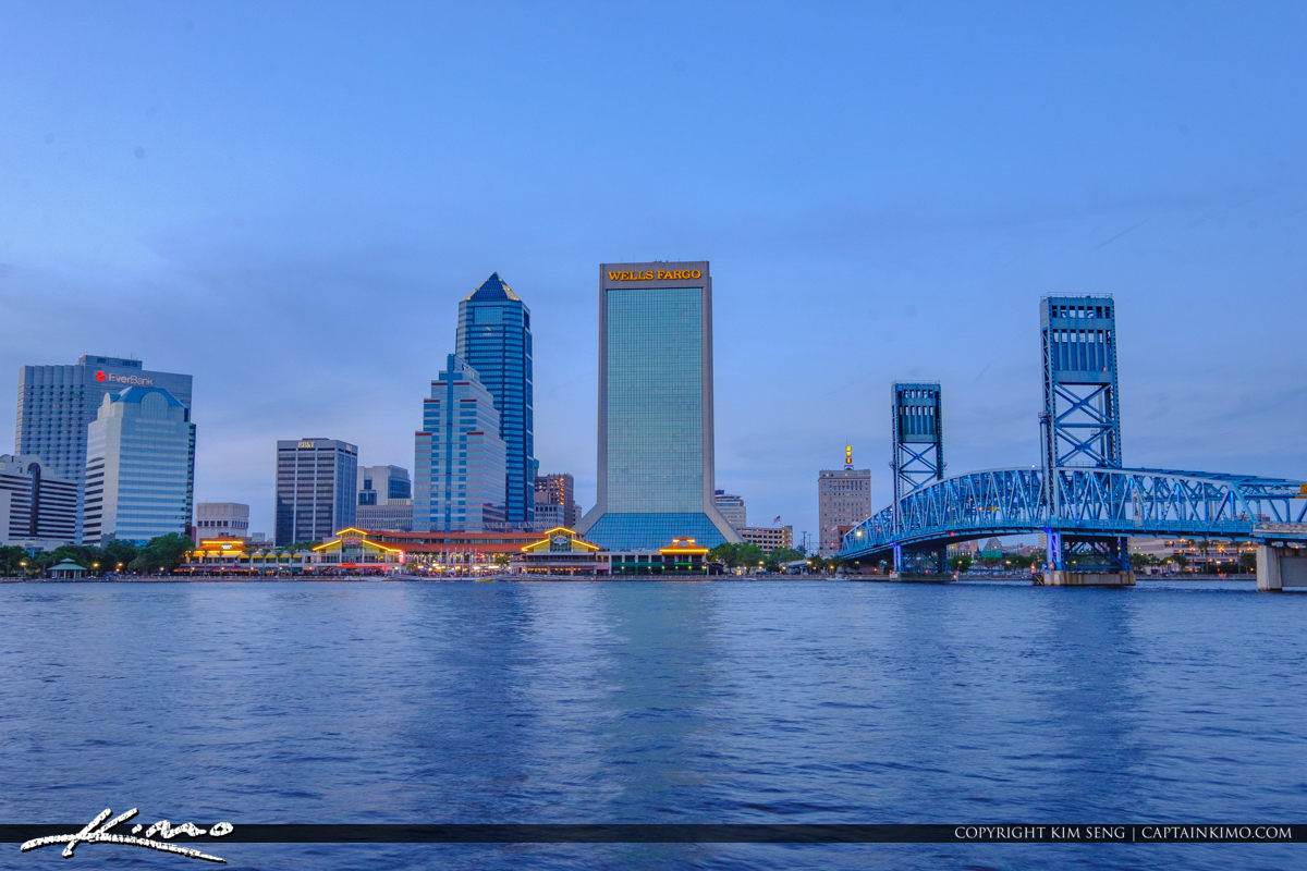 Downtown Main Street Bridge Jacksonville Skyline Florida