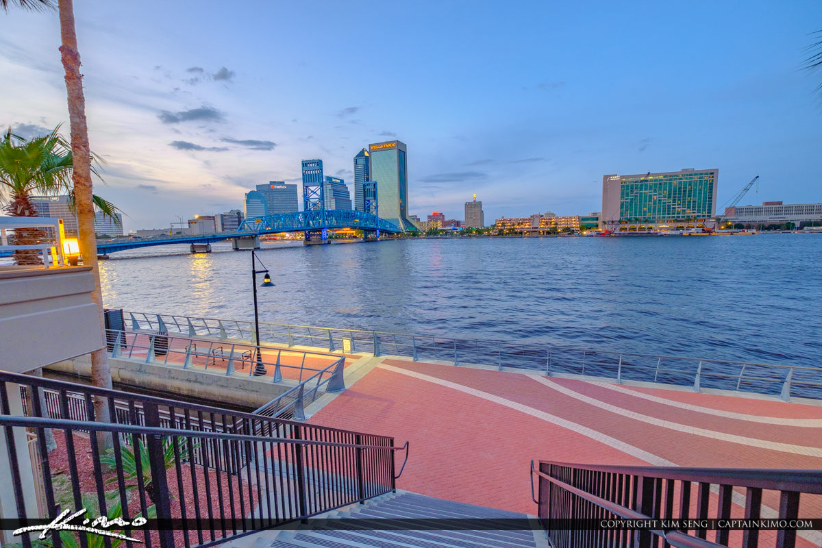 Down the Stairs at the Southbank Riverwalk St Johns River Jacksonville Florida