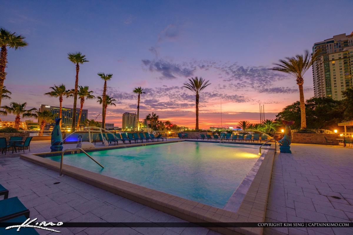 Sunrise at Pool Double Tree Hotel Jacksonville Florida