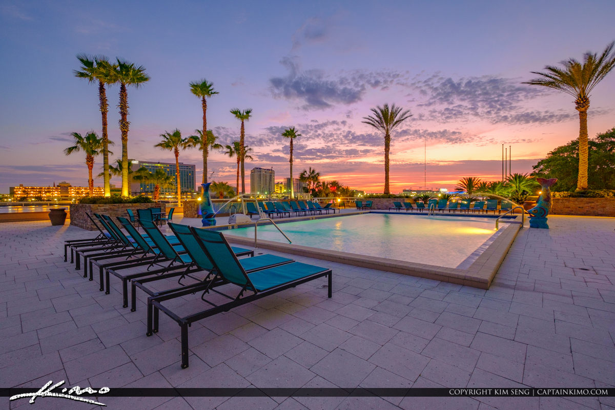 Chair at Pool the Double Tree Hotel Sunrise Downtown Jacksonville
