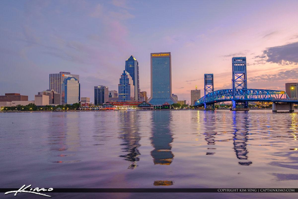 Jacksonville Skyline Reflection on the St Johns River