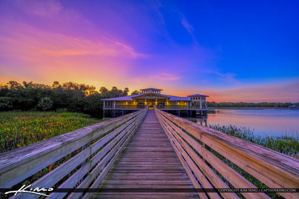 Boardwalk to Green Cay Nature Center Boynton Beach Florida