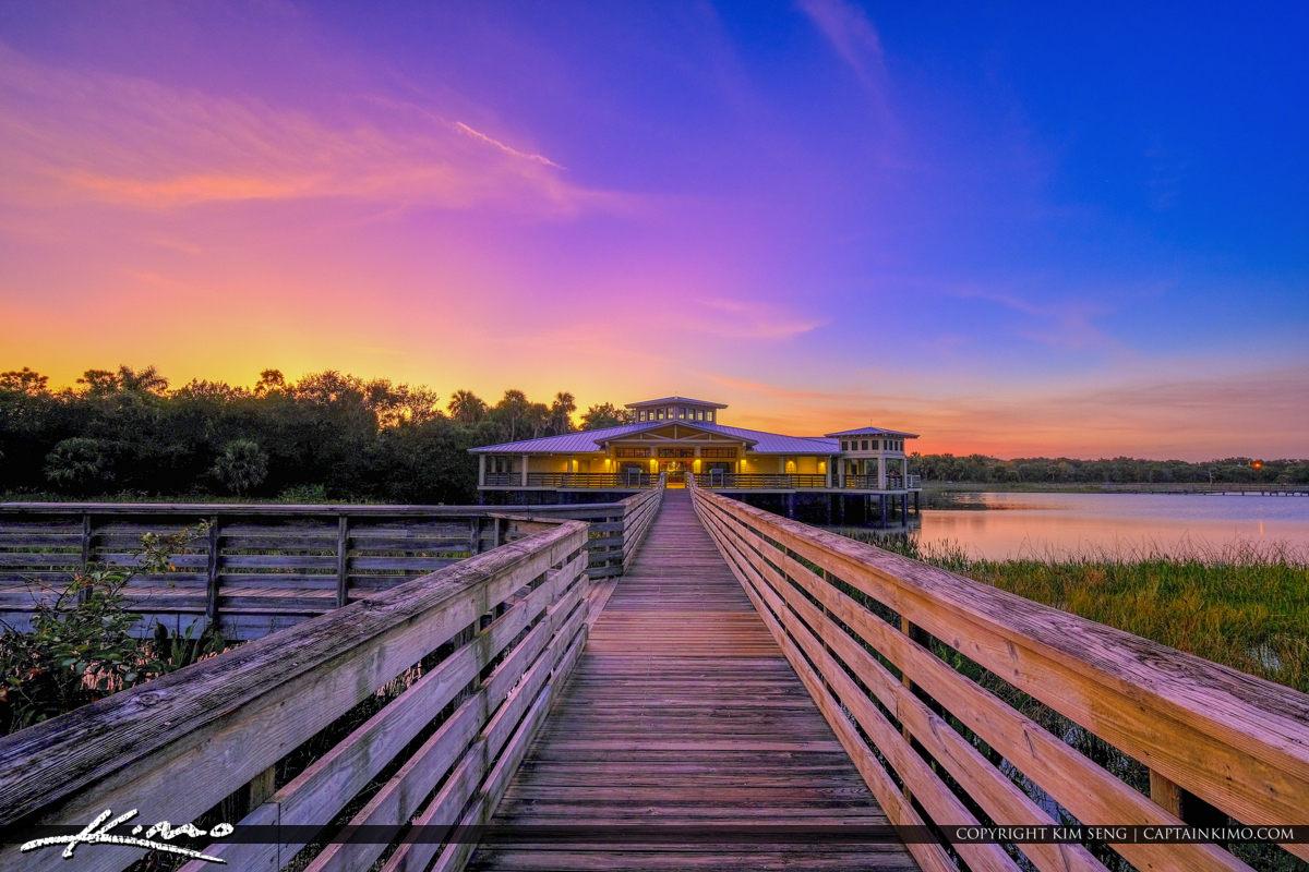 Purple Sunset at Green Cay Nature Center in Boynton Beach