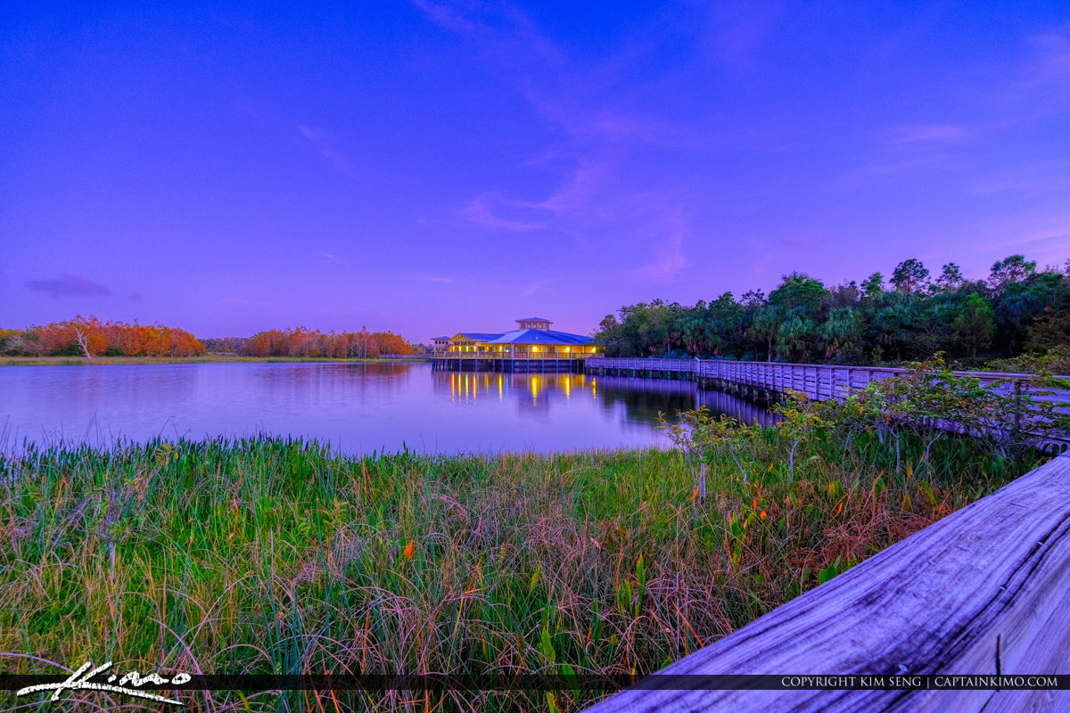 Purple Sunset Green Cay Wetlands Boynton Beach Florida