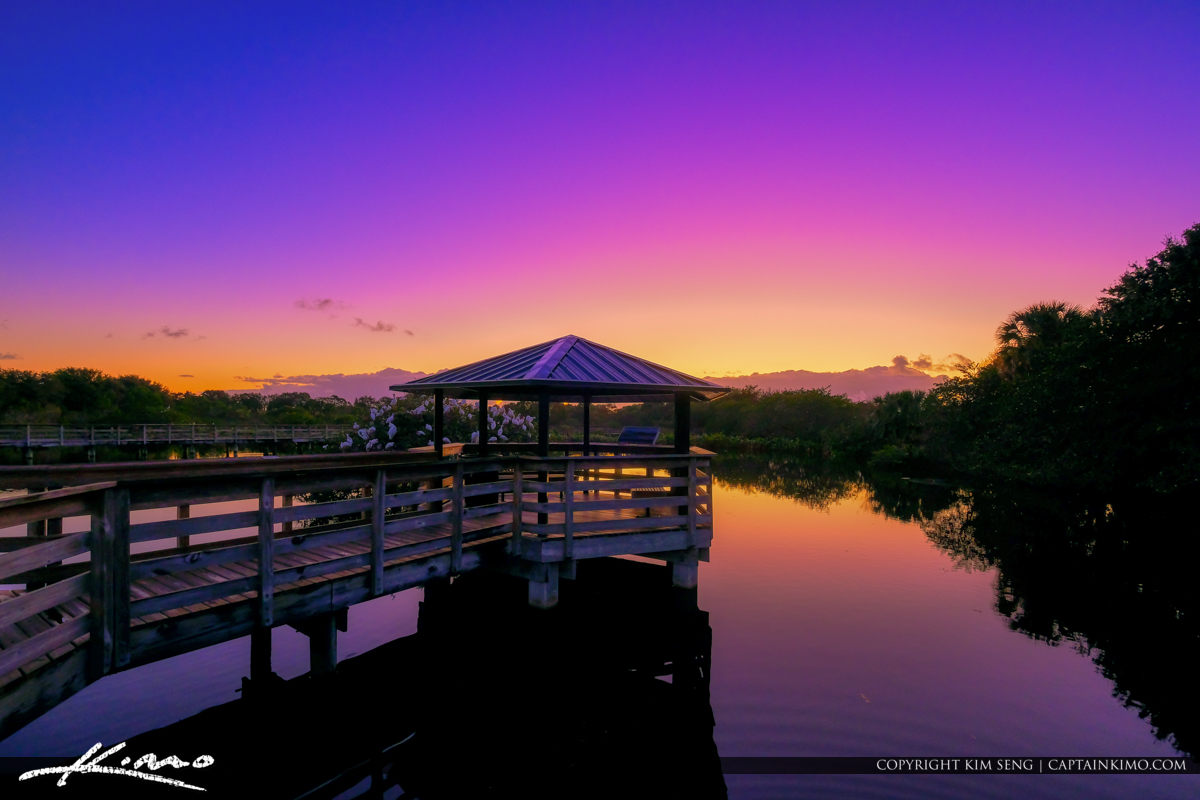 Boardwalk Lookout Area Sunrise Wakodahatchee Wetlands Delray Beach
