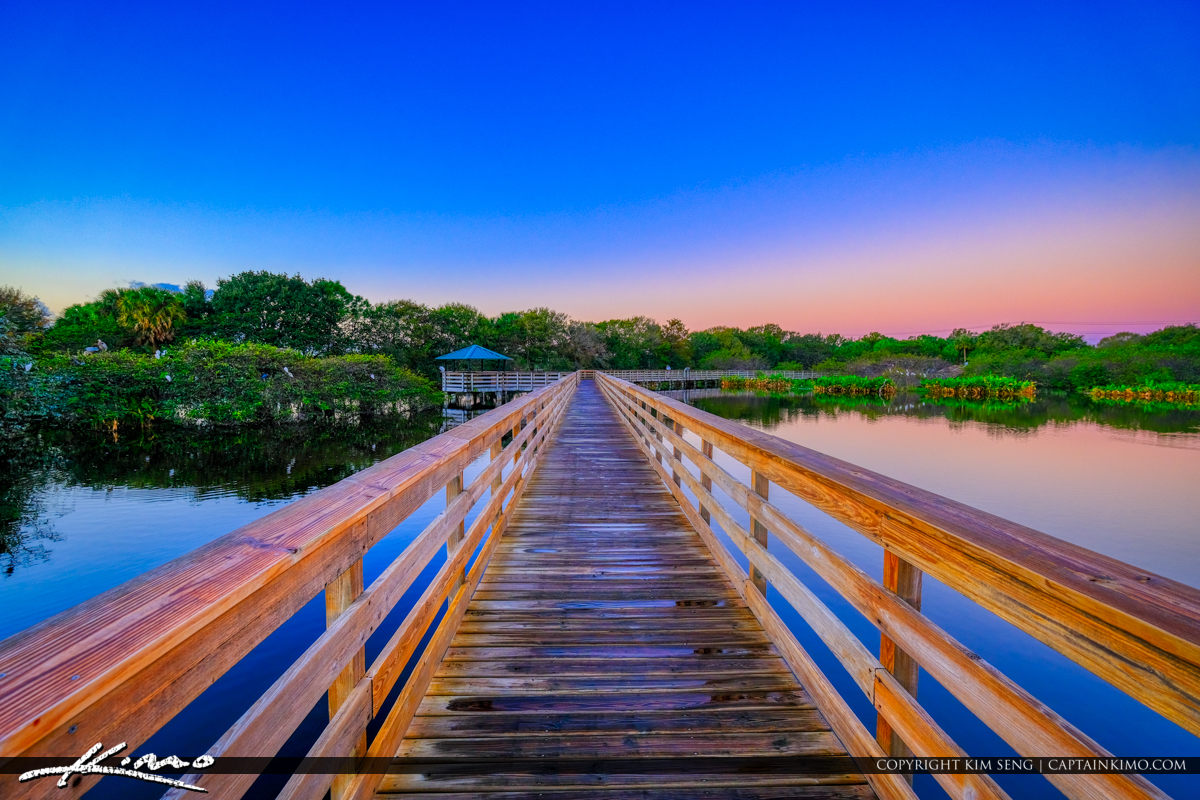Boardwalk Sunrise Wakodahatchee Wetlands Delray Beach Florida