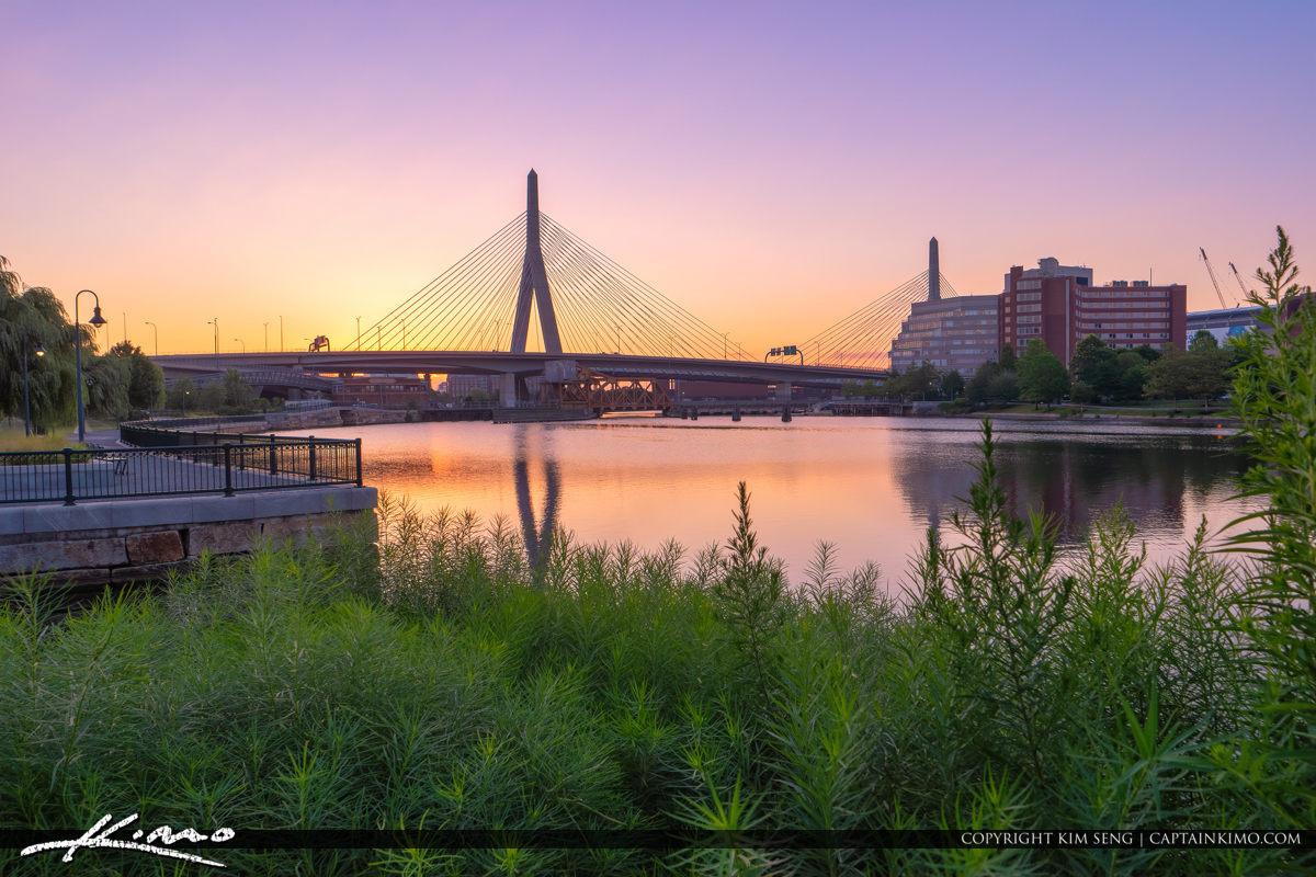 Bunker Hill Memorial Bridge North Point Park Boston Massachusett