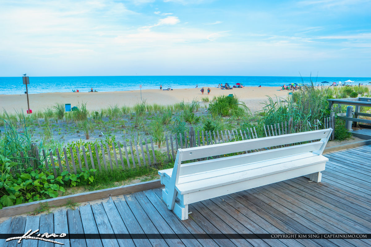 White Bench Rehoboth Beach Delaware