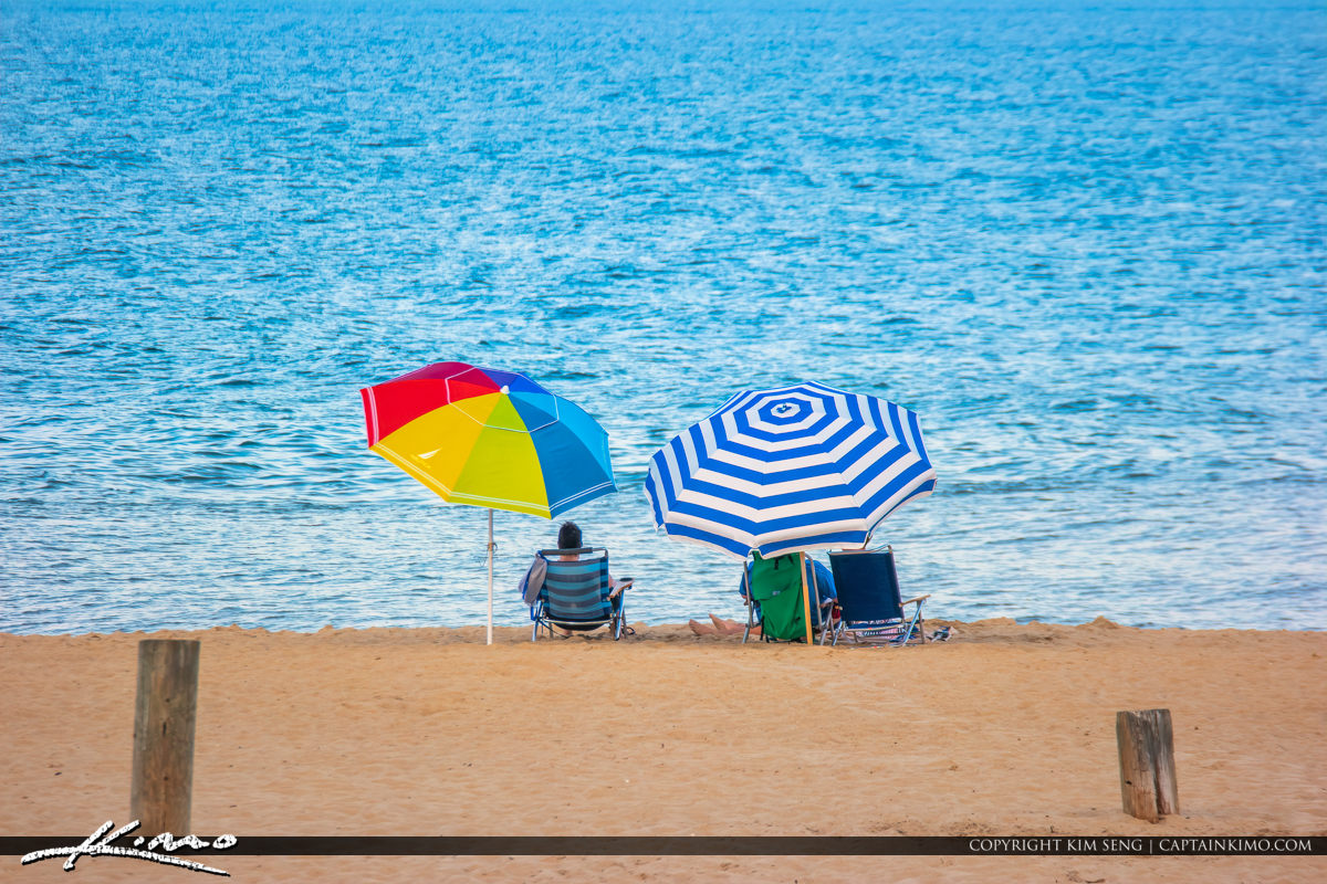 Umbrella at Beach Rehoboth Beach Delaware