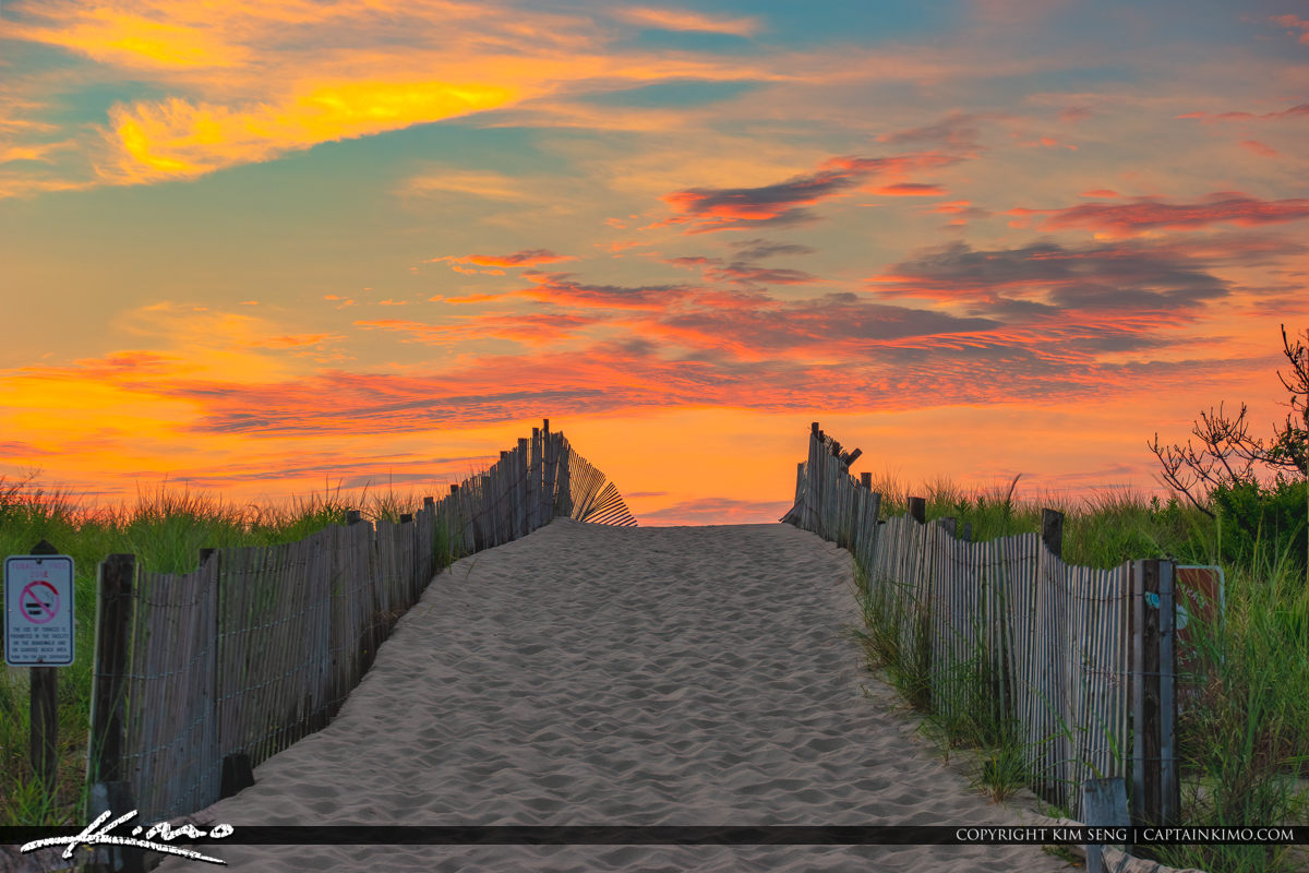 Sunrise Beach Entrance South Inlet Delaware National Seashore