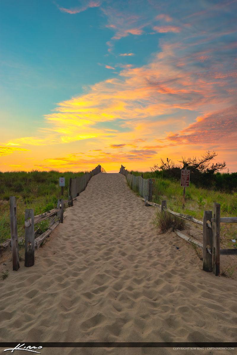 Sunrise Beach Entrance South Inlet Delaware National Seashore