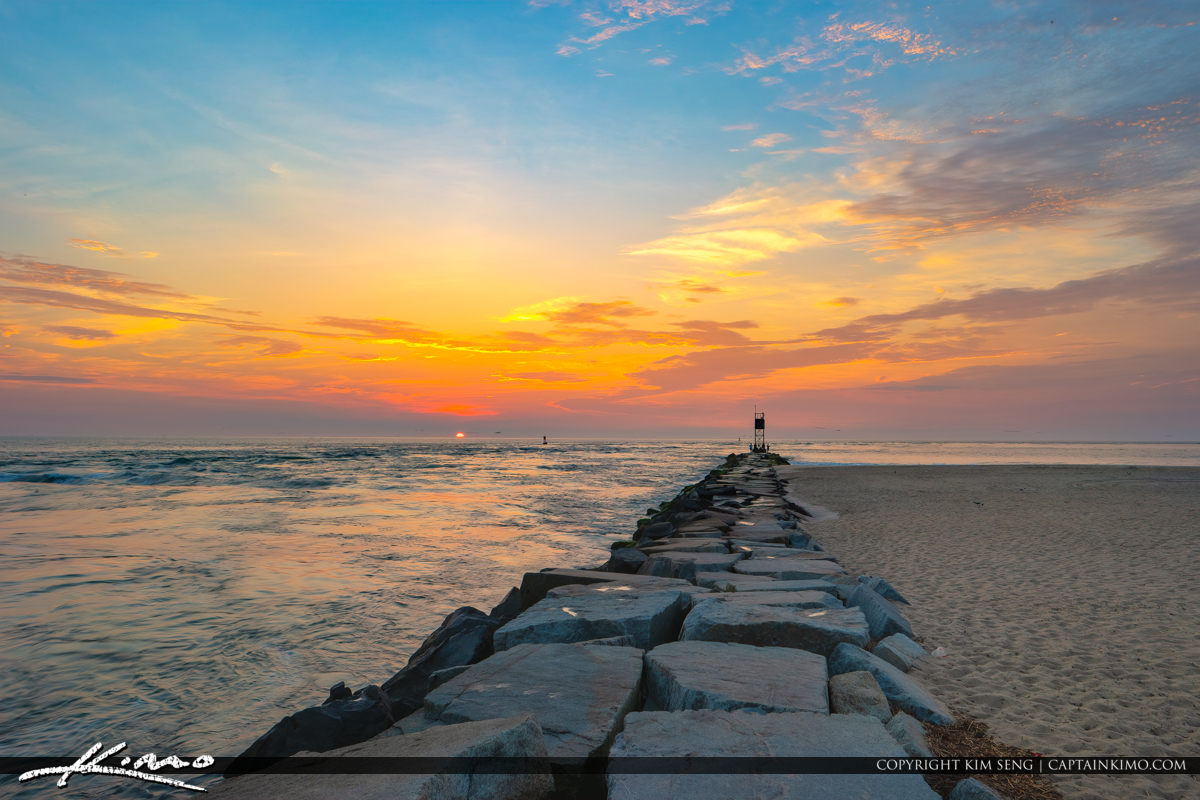 Delaware National Seashore South Inlet at the Jetty for Sunrise