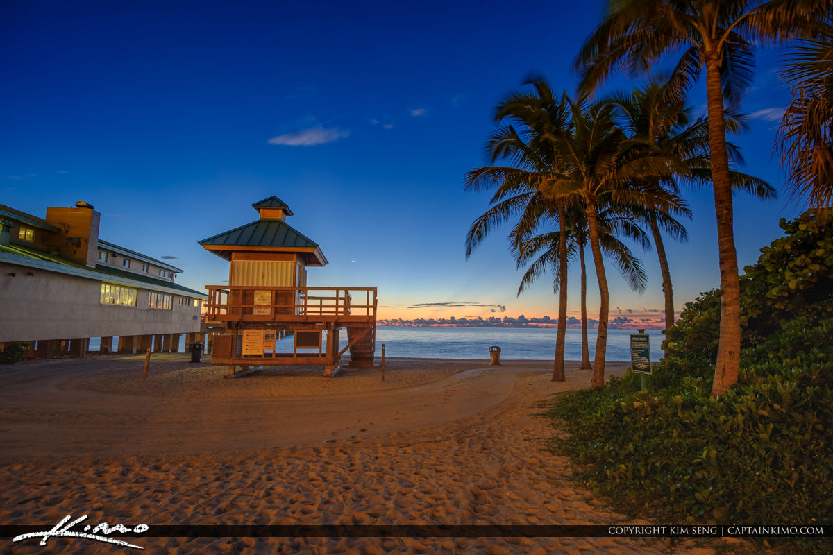 Sunny Isles Beach Florida Pier Sunrise Newport Fishing Pier
