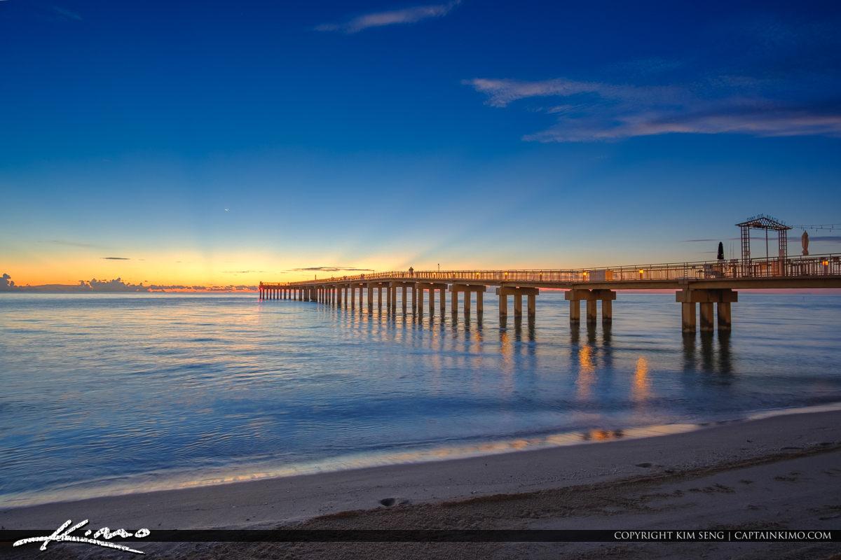 Sunny Isles Beach Florida Pier Sunrise