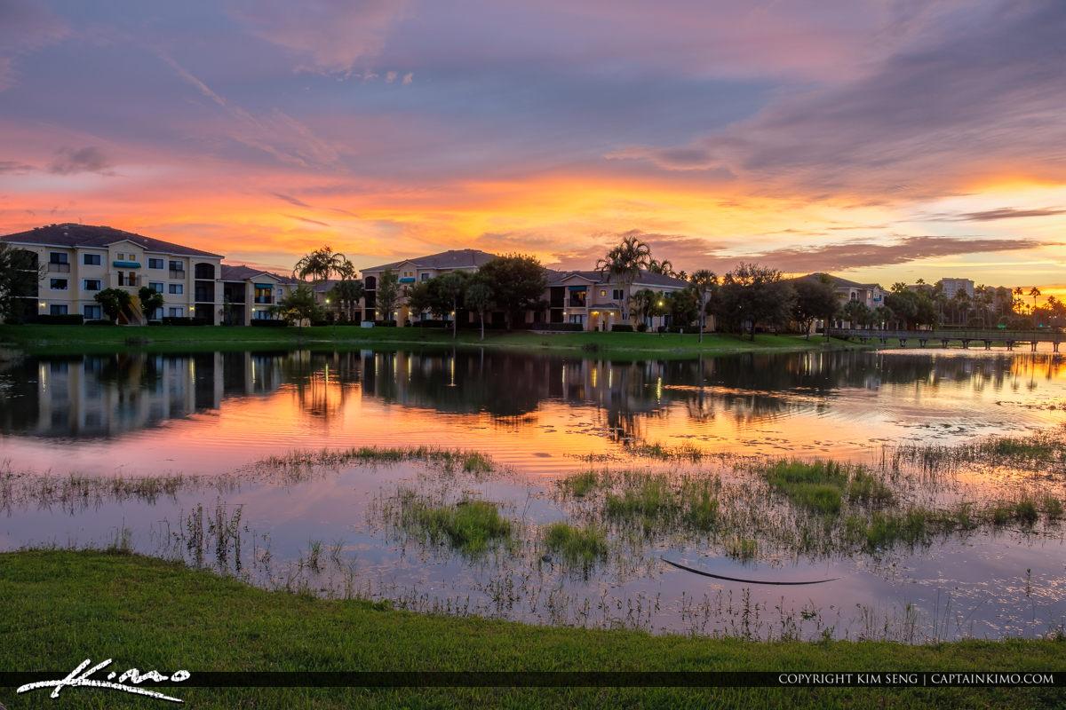 Palm Beach Gardens Neighborhood Sunset