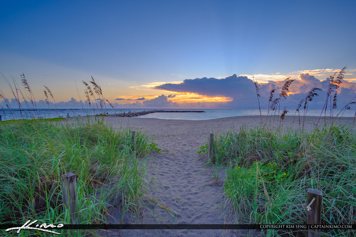 Fort Pierce Florida Inlet Jetty Park Sunrise