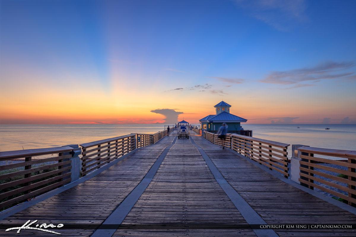 Juno Beach Pier Sunrise at the Pier