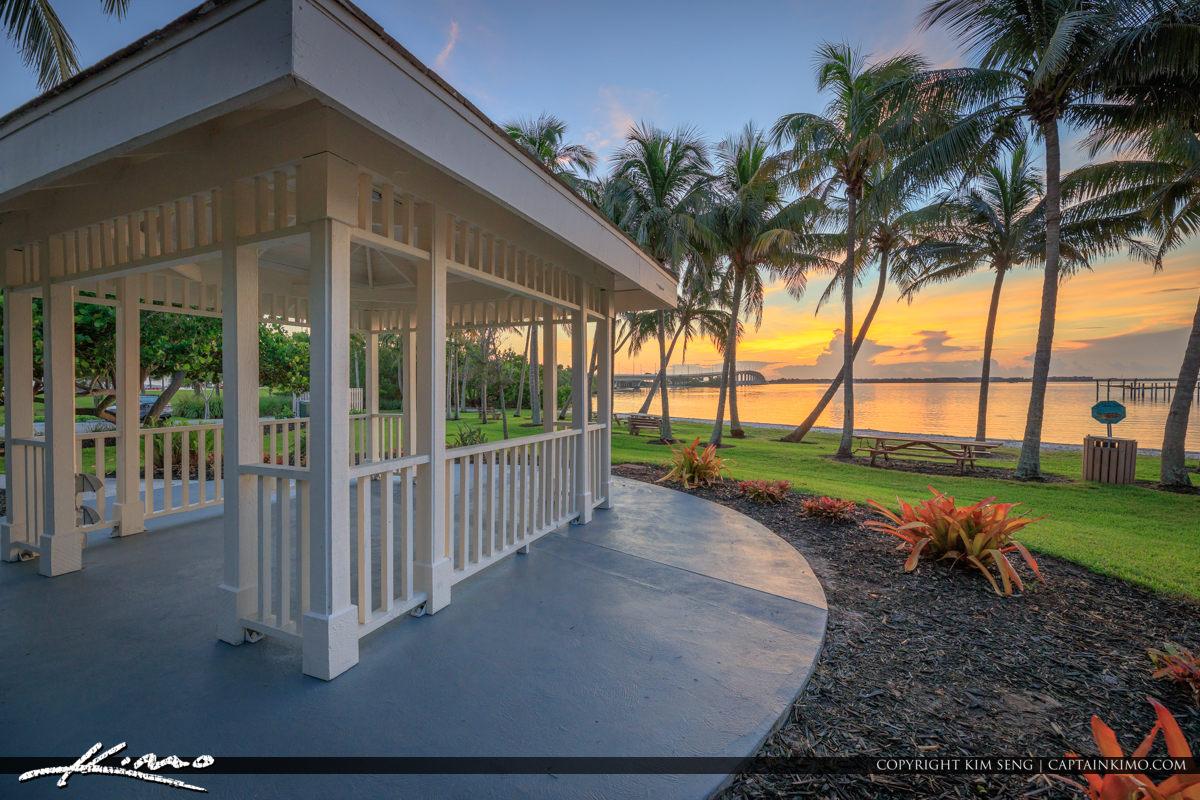 Sewalls Point Park Sunrise Coconut Trees Florida