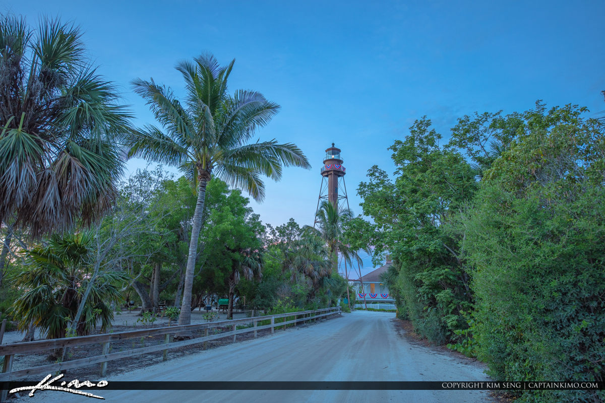Sanibel Island Lighthouse Coconut Tree Sunrise