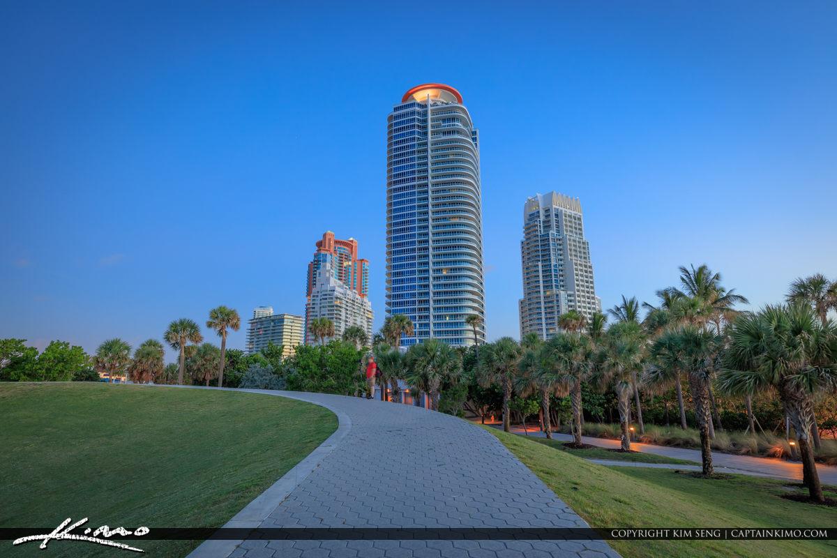 South Pointe Park Beach Miami Florida Sunrise