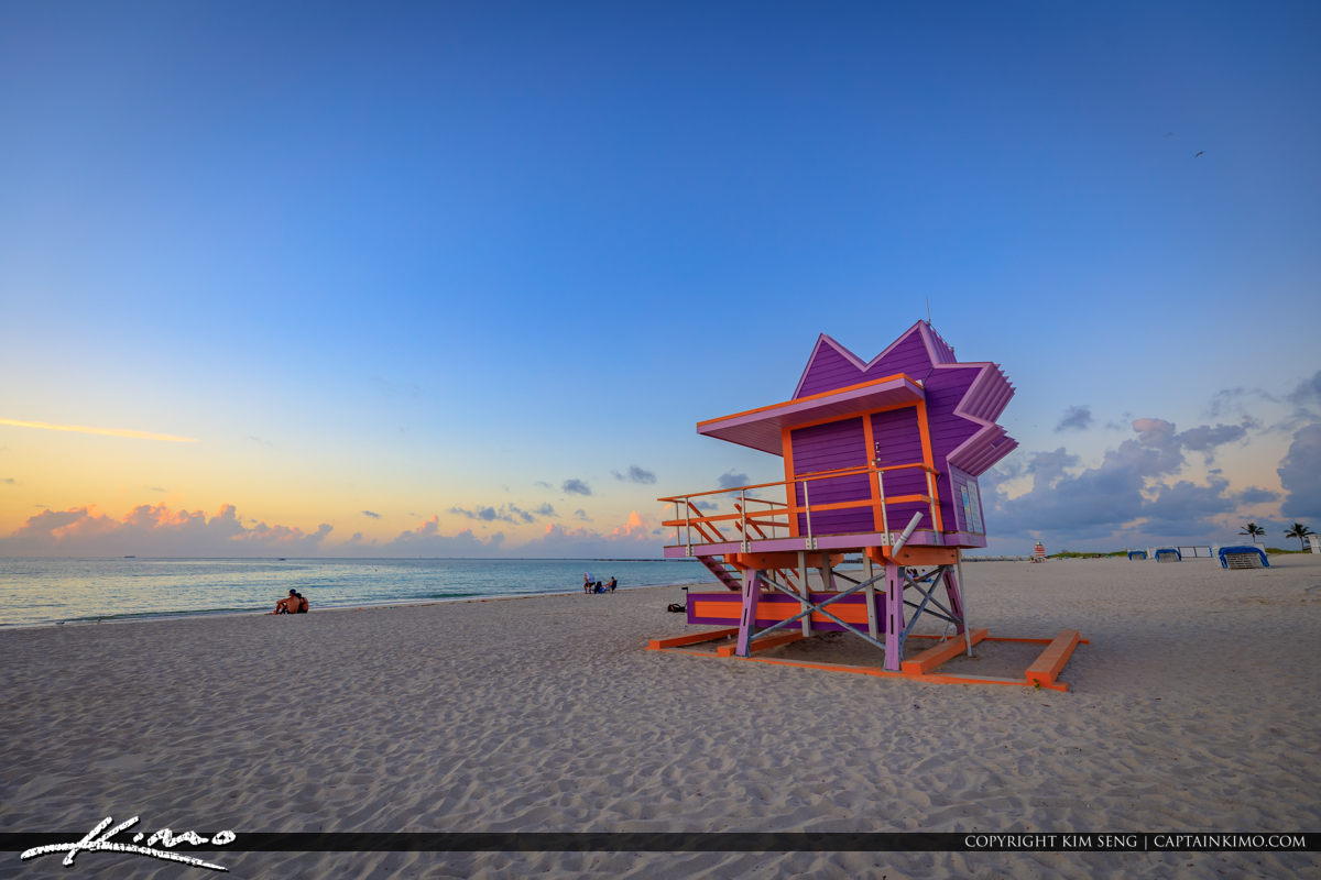 South Pointe Park Beach Miami Florida Sunrise