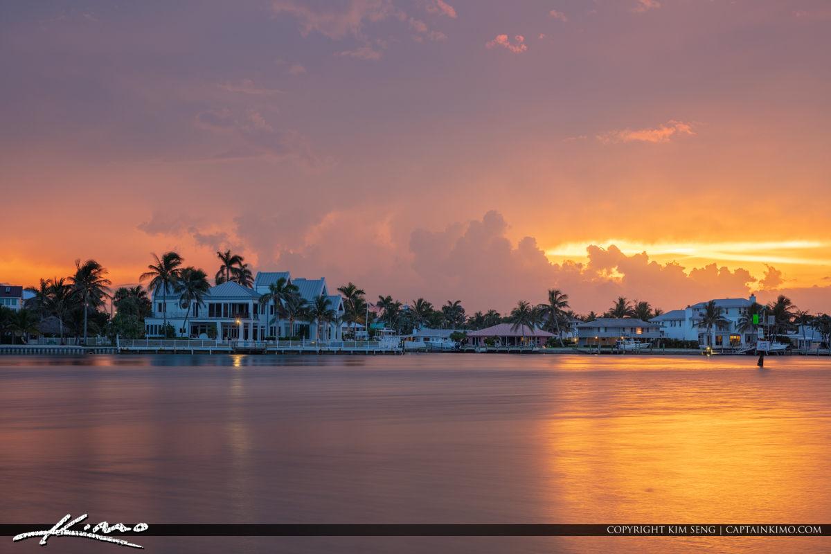 Jupiter Island Stormy Sunrise Tequesta Florida