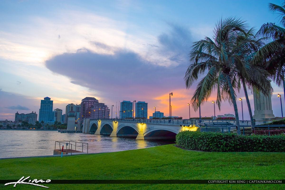 Royal Park Bridge West Palm Beach Skyline Sunset