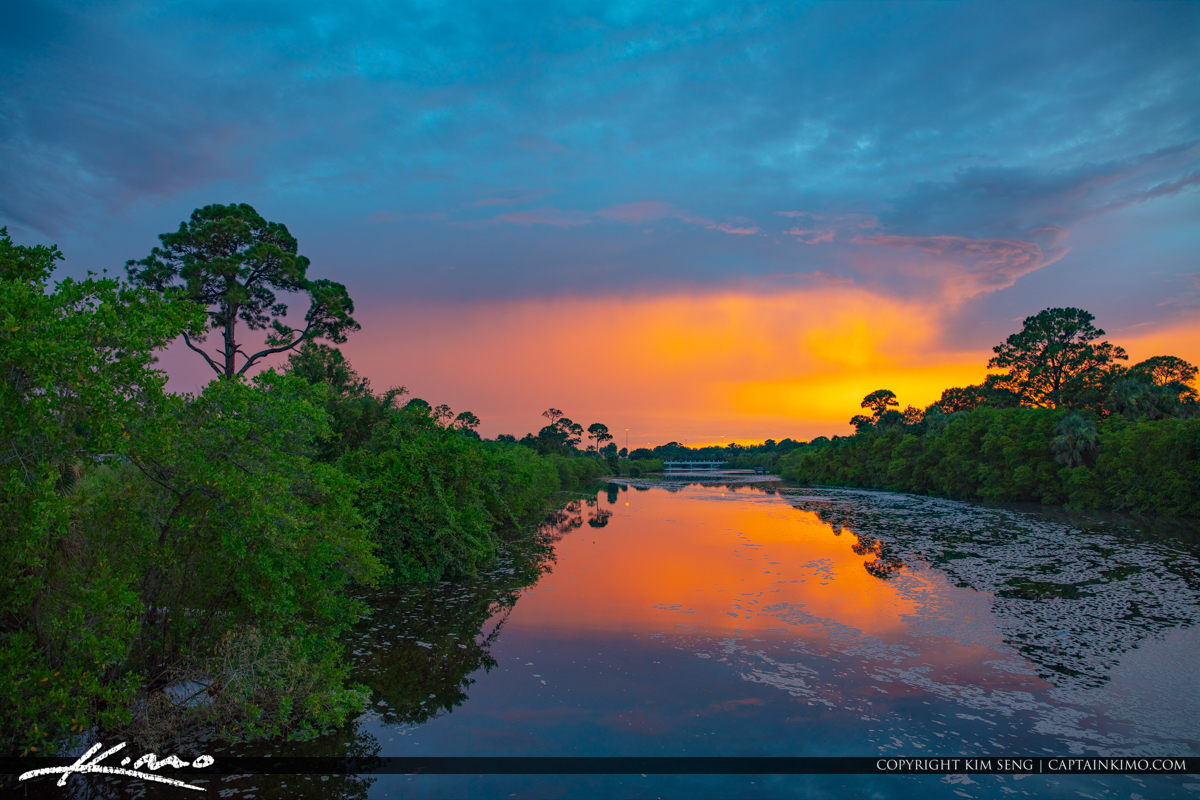 Limestone Creek Natural Area Loxahatchee River Sunset Jupiter Fl