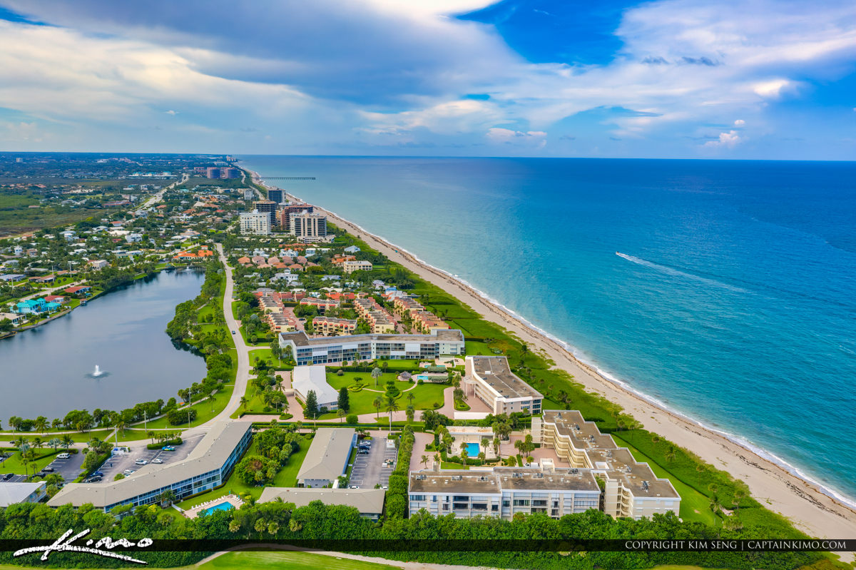 City of Juno Beach Aerial Waterfront Property