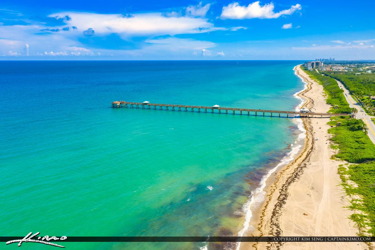 Juno Beach Florida Aerial Blue Water