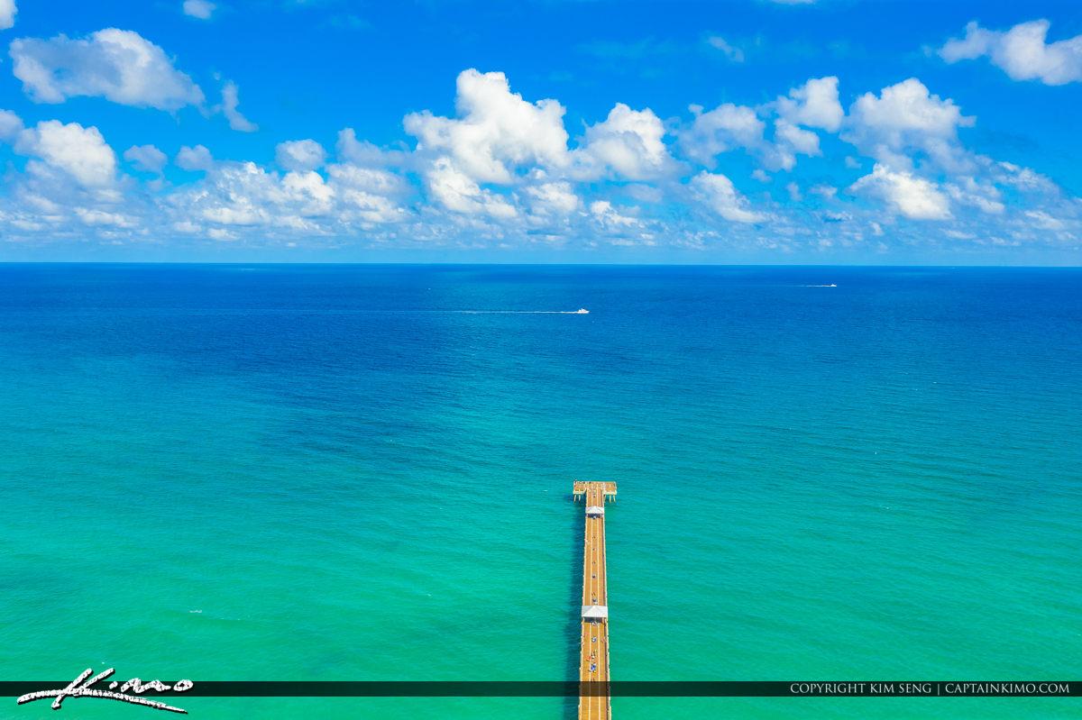 Juno Beach Florida Aerial at the Pier
