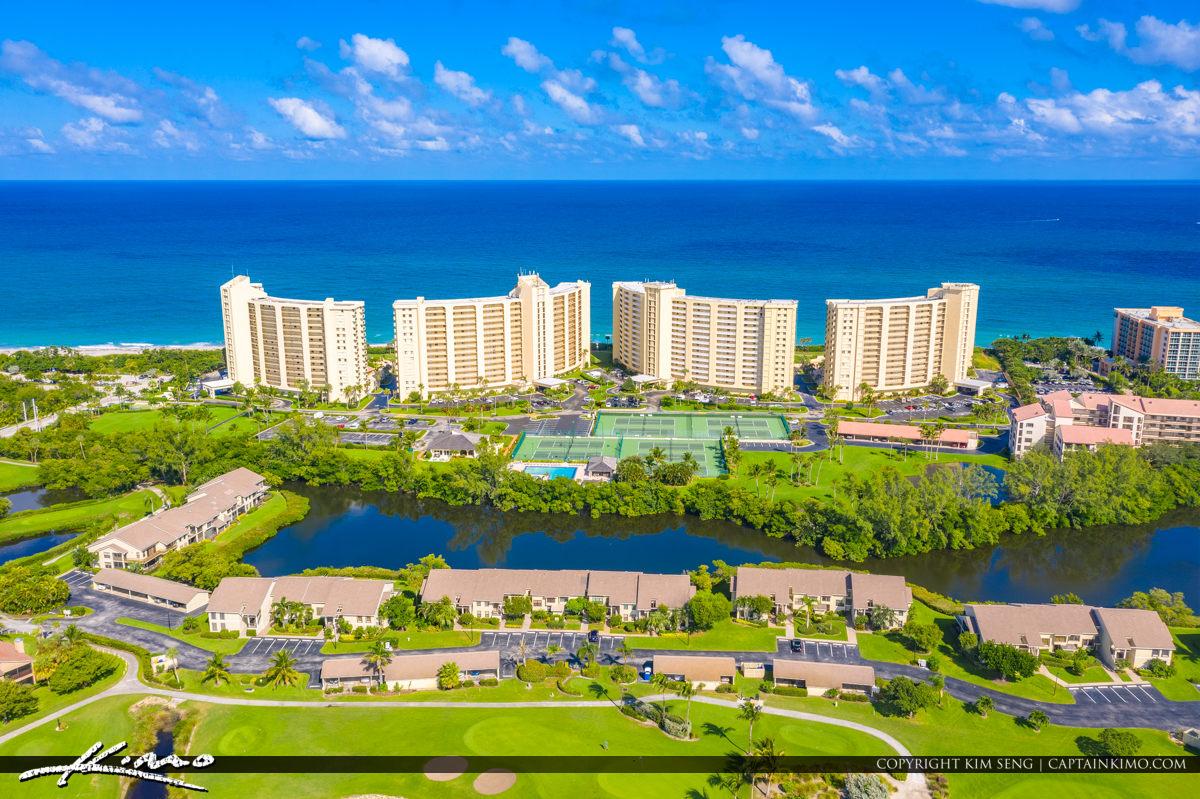 Jupiter Beach Florida Aerial Inlet Waterfront Property Condo Dub