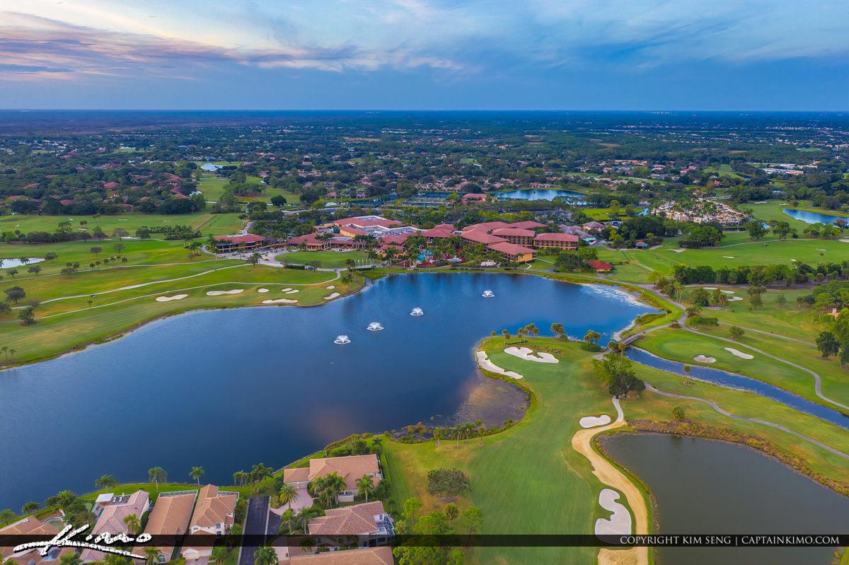 PGA National Aerial Country Club Golf Course Palm Beach Gardens
