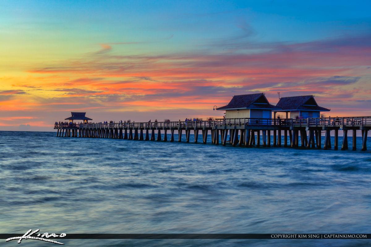 Naples Pier Sunset Florida