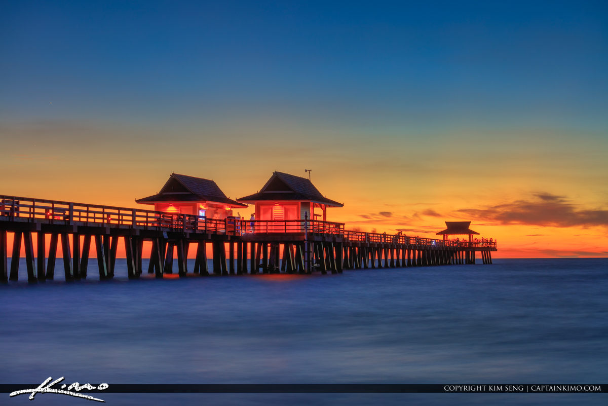 Naples Pier Sunset Florida