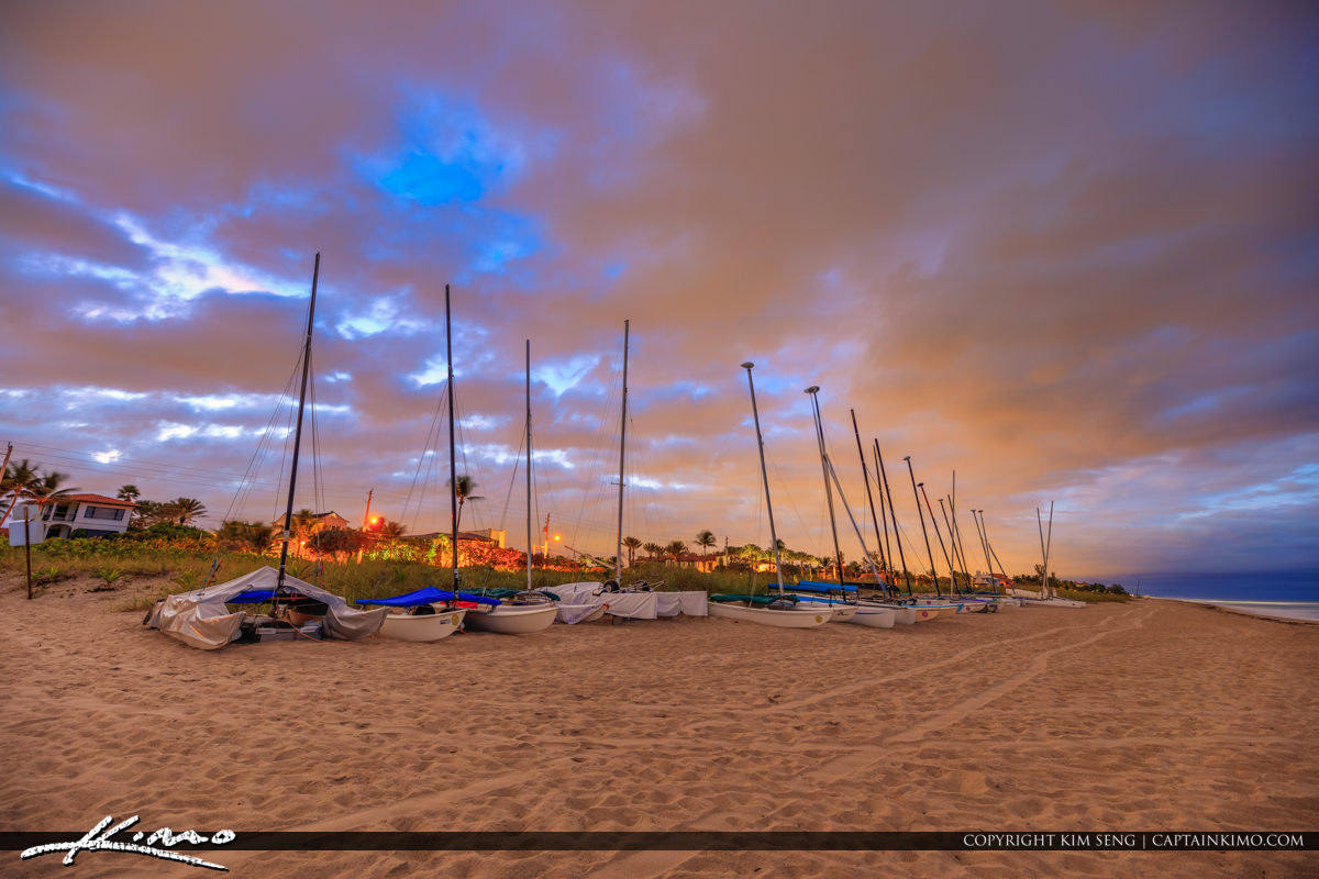 Delray Beach Sailboats at the Beach